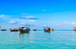 Long tail boat for transport tourists in Thailand Stock Photos