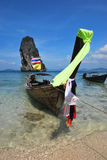 Long Tail Boat. Travel around islands in south of Thailand for your holiday Stock Images