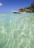 Long Tail Boat on Tropical Beach Stock Photography