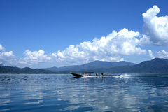 Long tail boat on tropical sea in Thailand. Asia Royalty Free Stock Images