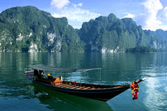 Long tail boat on tropical sea in Thailand Royalty Free Stock Image