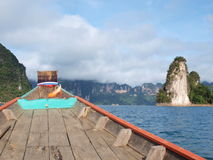 The long tail boat on the way to Khao Sok National Park,Thailand Royalty Free Stock Images
