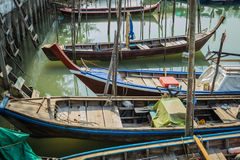 Long tail boats Stock Images