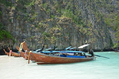 Long-tail boats 3. Long-tail boats in the Andaman Sea, Thailand Royalty Free Stock Photo