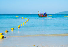 Long tail boats. Andaman Sea, Thailand,Tropical beach, long tail boats, Thailand,Long tail boats on beach,Andaman Sea stock images