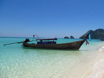 Long tail boats in AoNang Krabi Beaches and Islands Thailand Stock Images