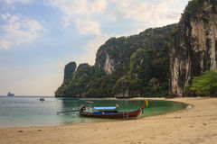 Long tail boats on the coast of Andaman sea Stock Photography