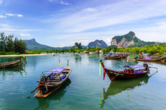 Long-tail boats, Hat Noppharat Thara, Krabi Province, Thailand Stock Images