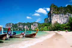 Long tail boats, Krabi Royalty Free Stock Image