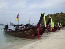 Long tail boats. Royalty Free Stock Image