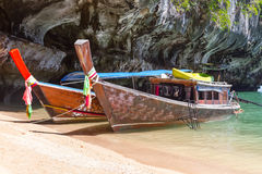 Long tail boats on Phang Nga Bay Royalty Free Stock Photo