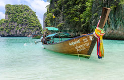 Long tail boats in Phi Phi Island, Krabi, Thailand Royalty Free Stock Photo