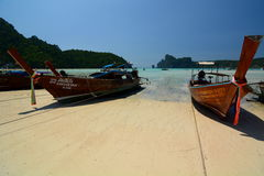 Long-tail boats. Phi Phi islands. Krabi. Thailand Stock Photos