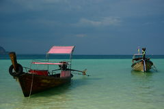 Long-tail boats. Phi Phi islands. Krabi. Thailand Stock Photography