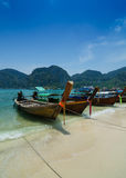 Long Tail Boats at Phi Phi Leh island, Phuket, Thailand Royalty Free Stock Photos