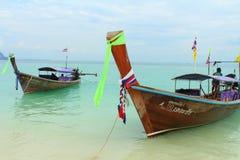 Long tail boats Royalty Free Stock Image