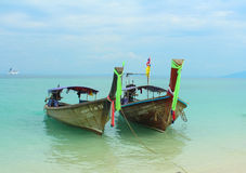 Long tail boats Stock Photography