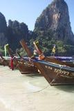 Long tail boats Stock Photo