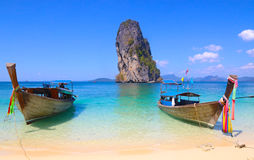 Long Tail Boats, Thailand Stock Photo