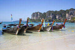 Long Tail Boats, Thailand Stock Photos