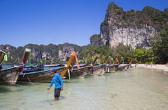 Long Tail Boats, Thailand Royalty Free Stock Photo