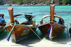 Long tail boats in Thailand Royalty Free Stock Photo