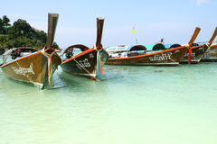 Long tail boats in Thailand Stock Image