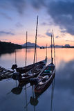 Long tail boats Royalty Free Stock Images