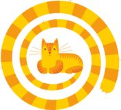 Long tail cat. Vector illustration Royalty Free Stock Photo