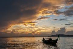 Free Long Tail Fishing Boat At Sunset, Koh Phi Phi, Thailand Royalty Free Stock Photos - 164389158
