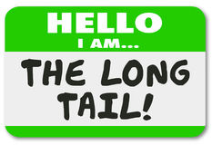 The Long Tail Name Tag Sticker Lasting Long Running Results Illustration stock illustration
