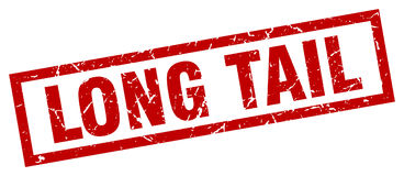 Long tail stamp Stock Photography