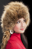 Long tail of winter hat Royalty Free Stock Photography