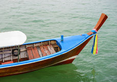 Long tail wooden boat Stock Photography