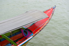 Long tail wooden thai boat Royalty Free Stock Photography