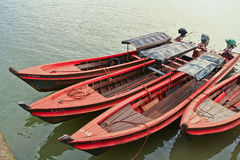 Long-tailed boat Stock Images