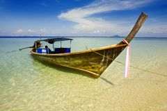 Long tailed boat Royalty Free Stock Images