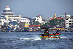 Long Tailed Boat on Chao Phraya River, Bangkok Royalty Free Stock Image
