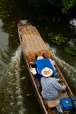 Long-tailed boat. The long-tailed boat at the floating market Thailand stock photography