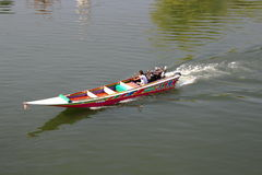 Long-Tailed Boat In The Kwai River, Kanchanaburi, Thailand Stock Image