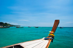 Long tailed boat at Phi-phi island in Thailand Royalty Free Stock Image