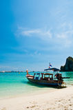 Long tailed boat at Phi-phi island in Thailand Royalty Free Stock Images