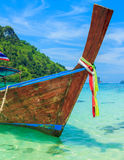 Long Tailed Boat In Phiphi Island, Thailand Stock Photography