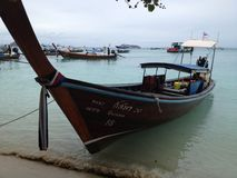 Long-tailed boat in Phiphi island Stock Photo