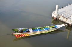 Long-tailed boat on River Kwai in Kanchanaburi Thailand. Royalty Free Stock Photos