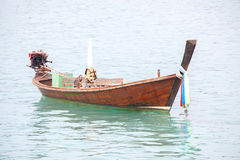 Long tailed boat Stock Images