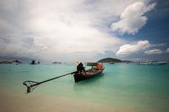 Long tailed boat at Similan island Royalty Free Stock Images