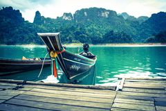 Long-tailed boat Royalty Free Stock Image