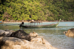 Long-Tailed Boat at Surin Island Stock Photos