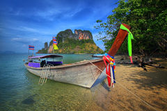 Long-tailed boat in Thailand Royalty Free Stock Images